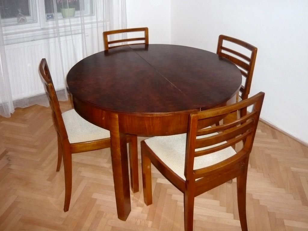 11.2 Repase jídelního stolu a židlí šelakem